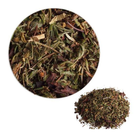 Чай Снігові вершини стимулює систему кровотворення; - Знижує артеріальний тиск; - Має потогінний і сечогінний ефект;