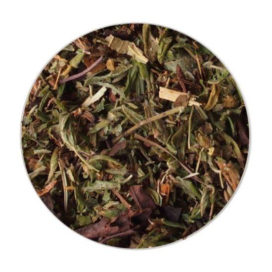 Чай Снігові вершини стимулює систему кровотворення, знижує артеріальний тиск, має потогінний і сечогінний ефект