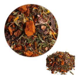 Чай Сонячний чудово справляється зі стресовими станами; підвищує працездатність організму; покращує роботу печінки і жовчного міхура